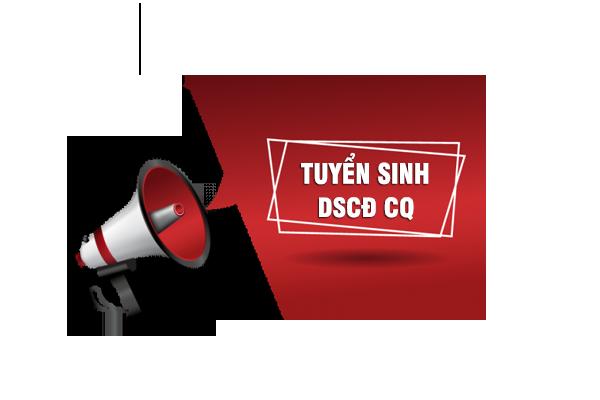 Thông báo Tuyển sinh đào tạo DSCĐ, DSTC 2020